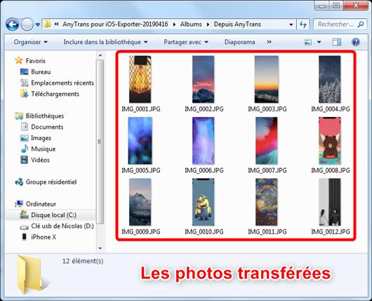 Gérer les Albums photos iPhone sur PC/Mac