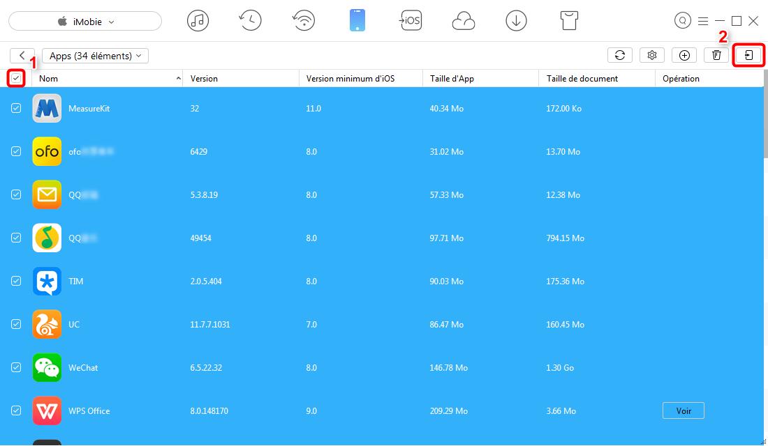 Transfert des apps iPhone vers iPad avec AnyTrans - étape 4