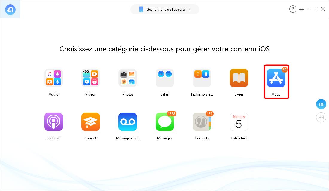 Comment transférer mes applications sur mon nouvel iPhone – étape 2