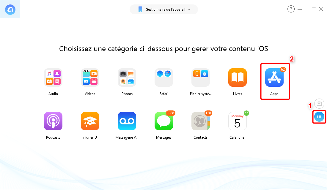 Comment transférer des applications vers le nouvel iPhone XS (Max)/XR