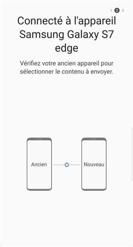 Connexion entre les deux appareils - étape 1