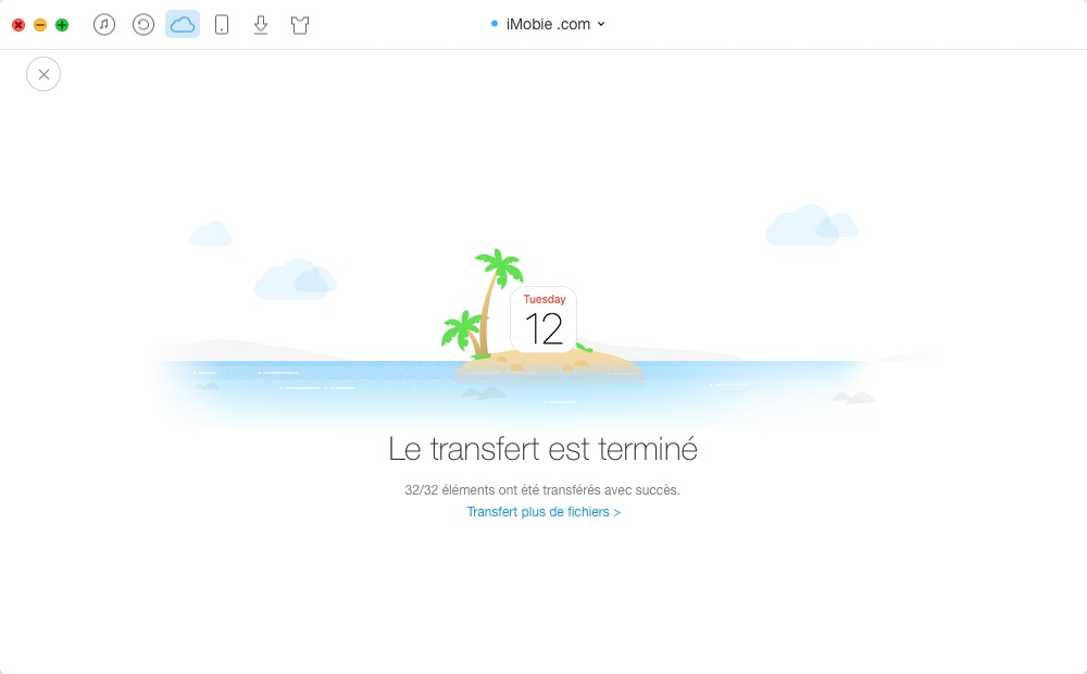 Synchronisation des calendriers iCloud – étape 4