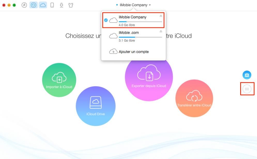 Comment transférer des contacts entre compte iCloud – étape 1