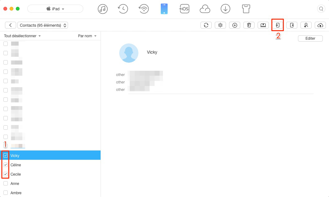 Transférer les contacts iPad vers iPhone avec facilité