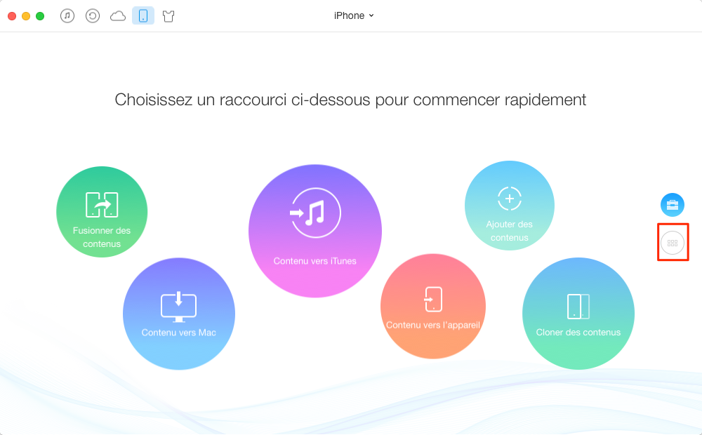 Transférer facilement de la musique iPhone vers iPod – étape 1