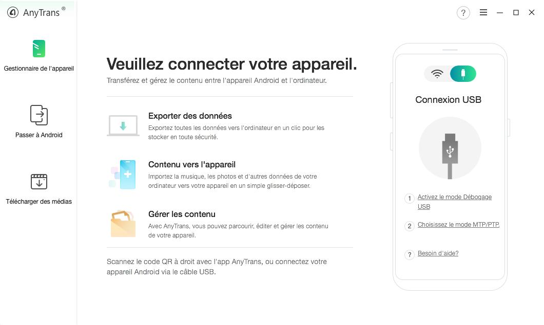 Copier les contacts depuis Samsung vers PC – étape 1