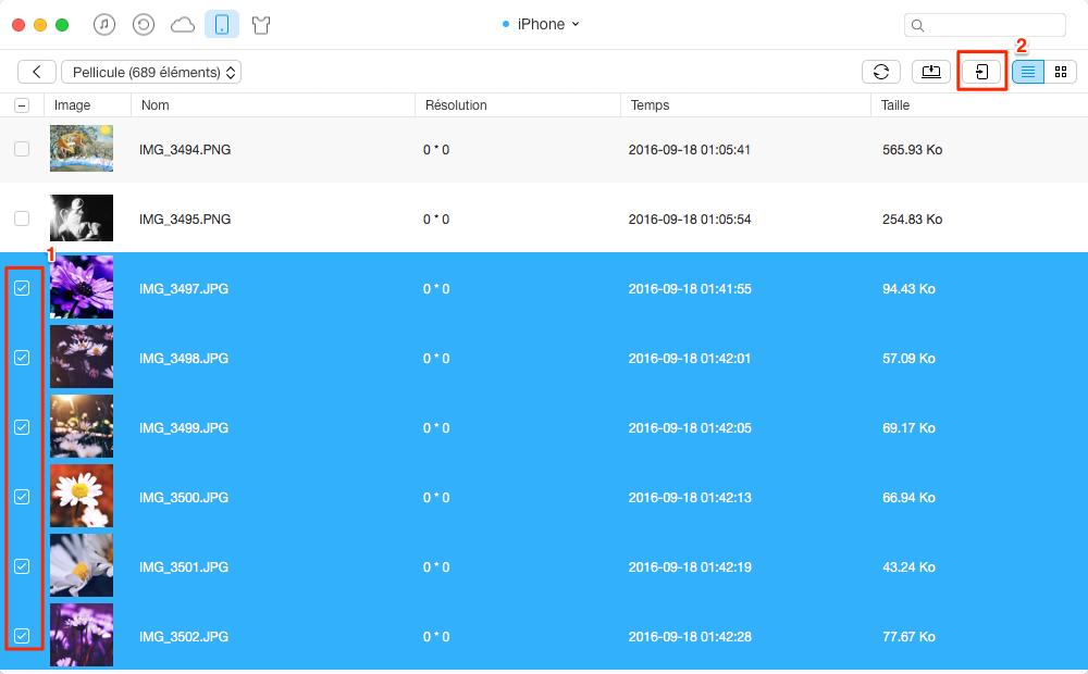 Comment copier les photos iPhone vers iPad Pro avec AnyTrans – étape 3