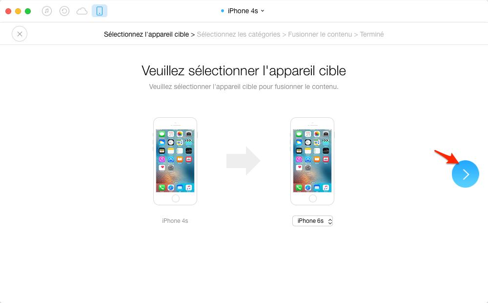 Copier les données d'un ancien iPhone vers iPhone 6/6s - étape 2