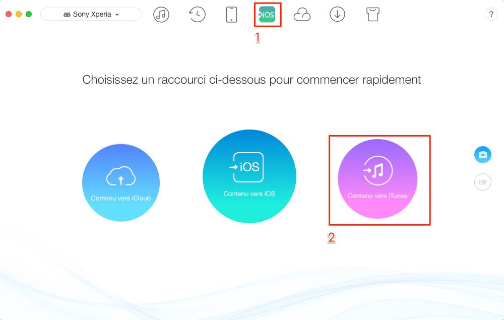 Comment transférer les données Android vers iTunes directement - étape 1
