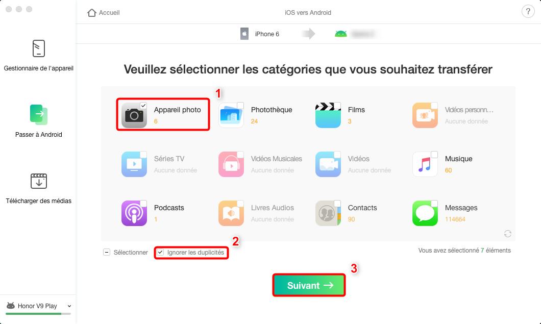 Passer de iPhone à Huawei Mate 20 Pro– étape 4