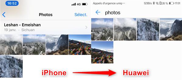 Transférer les données iPhone vers Huawei