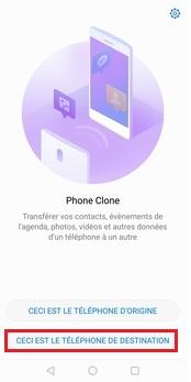 Lancement de l'application sur le téléphone Huawei