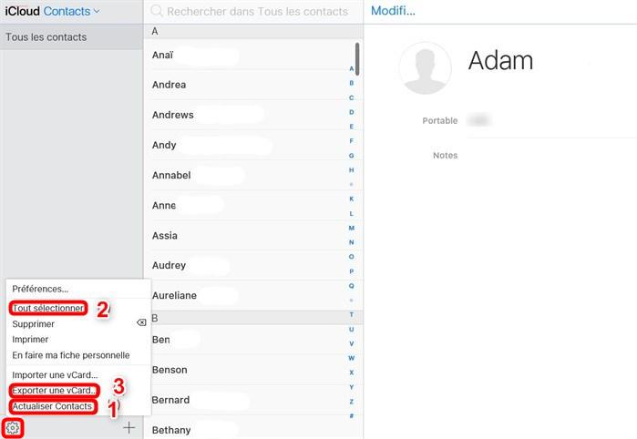 Transférer les données depuis iCloud vers Samsung Galaxy S10/Fold