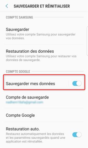 Sauvegarder les données de Samsung - étape 1