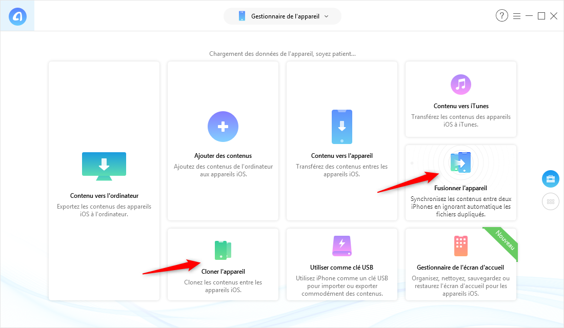 Transférer des données iPhone vers iPhone via AnyTrans pour iOS – étape 2