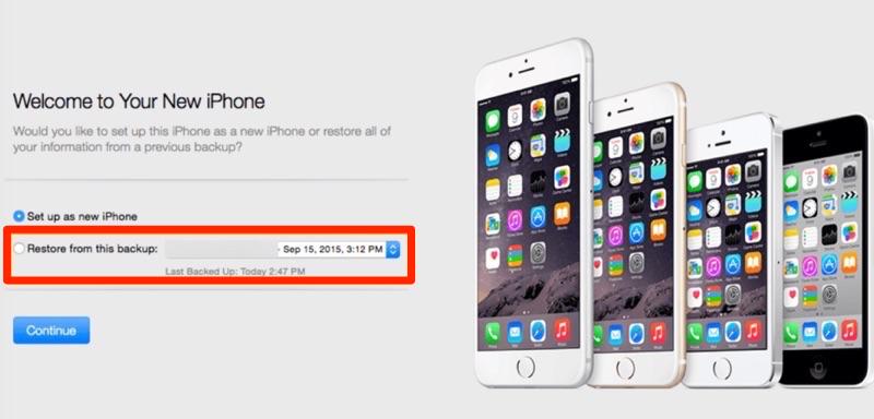 Retrouver sauvegarde iPhone vers un autre iPhone