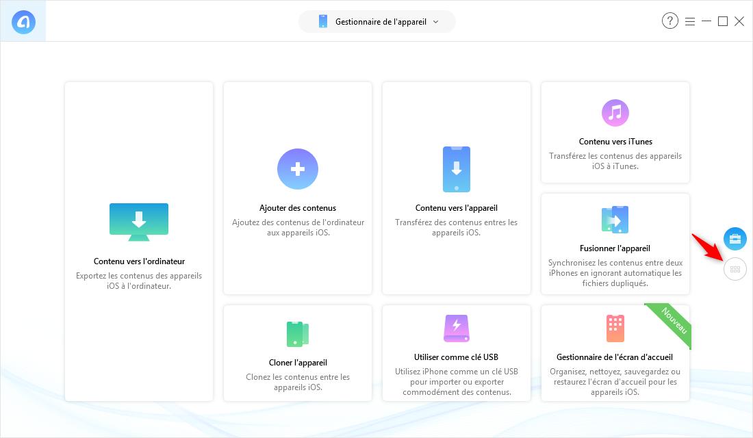 Transférer fichiers PC/Mac vers iPhone avec AnyTrans pour iOS - étape 2