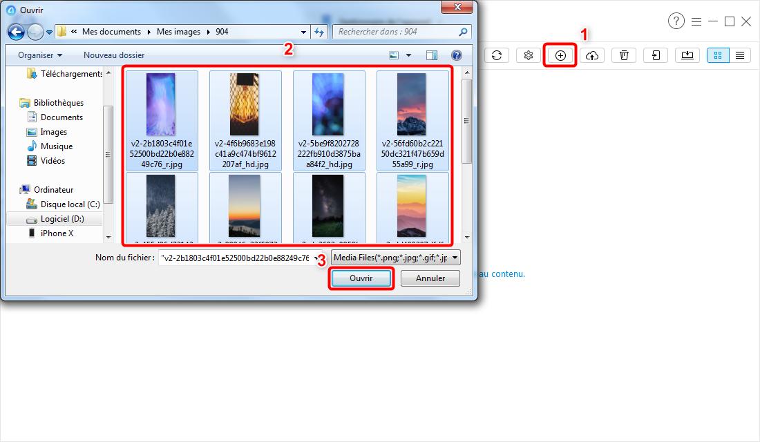 Transférer des fichiers PC/Mac vers iPhone sans iTunes - étape 4