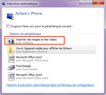 Importer les fichiers PC vers iPhone via l'Explorateur Windows