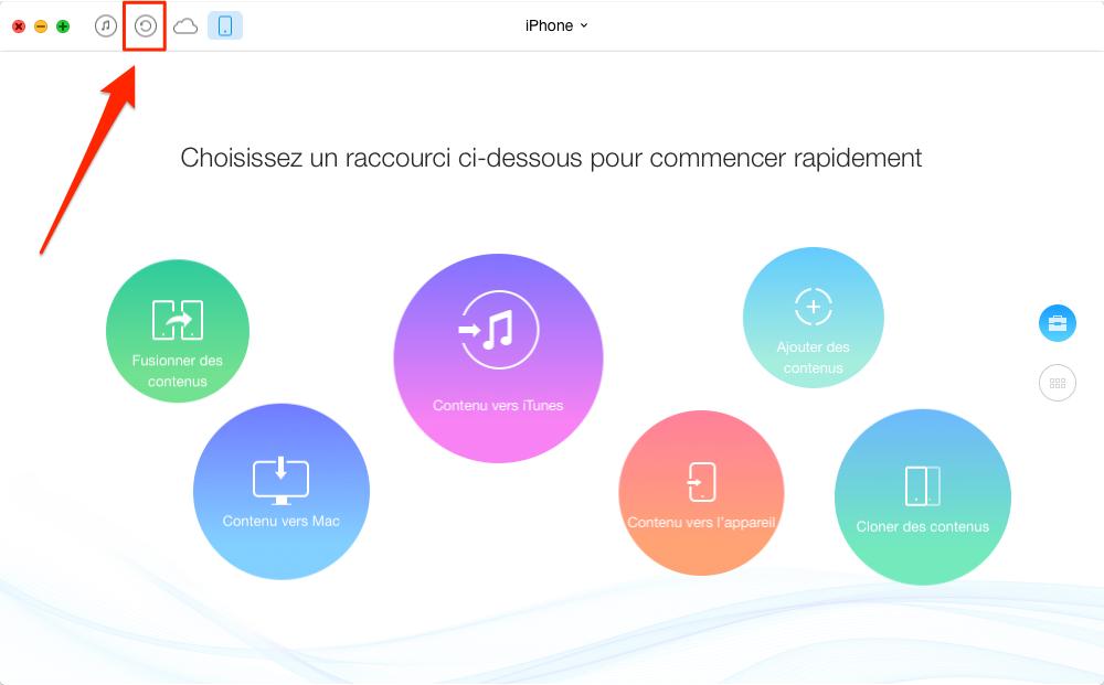 Comment transférer l'historique d'appel iPhone vers ordinateur – étape 1
