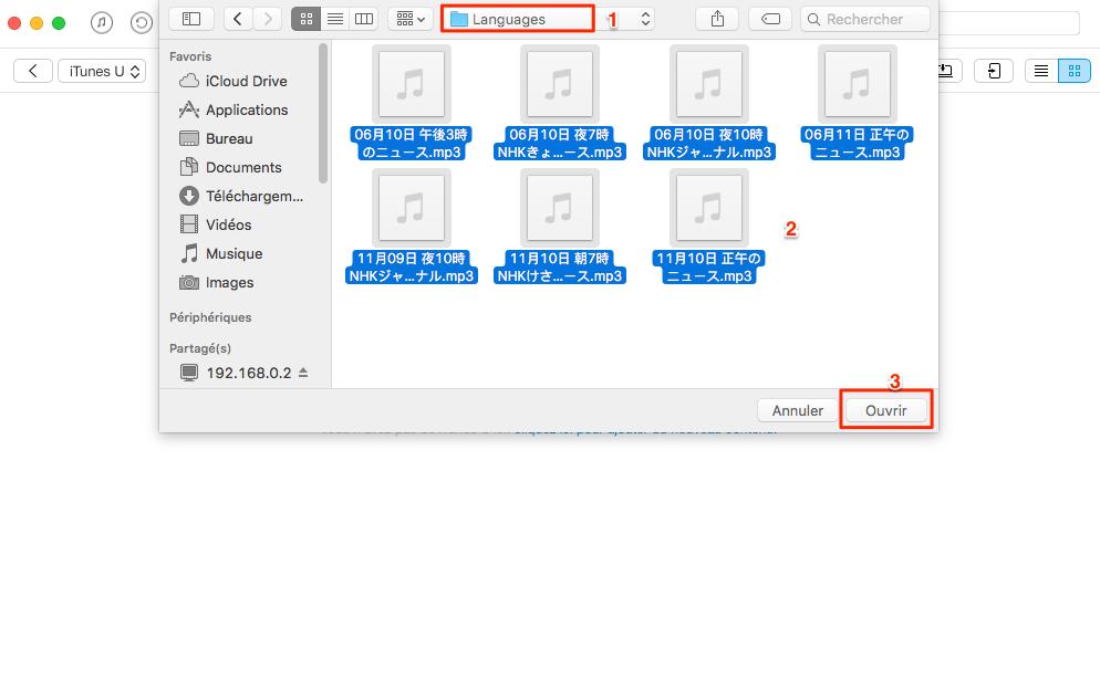 Transférer iTunes U de l'ordinateur vers iPhone avec AnyTrans - étape 4
