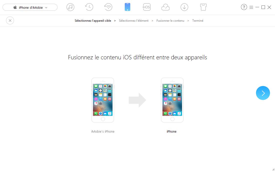 Fusionner les calendriers avec AnyTrans pour iOS - étape 2