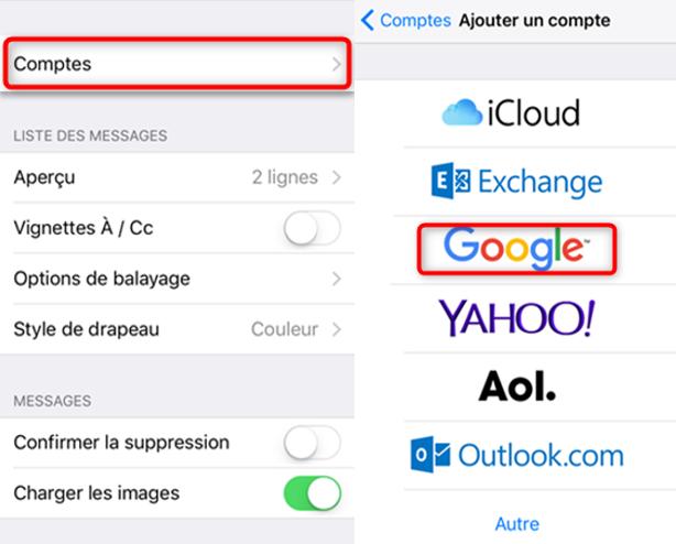 Transférer les fichiers iPhone vers PC via l'e-mail