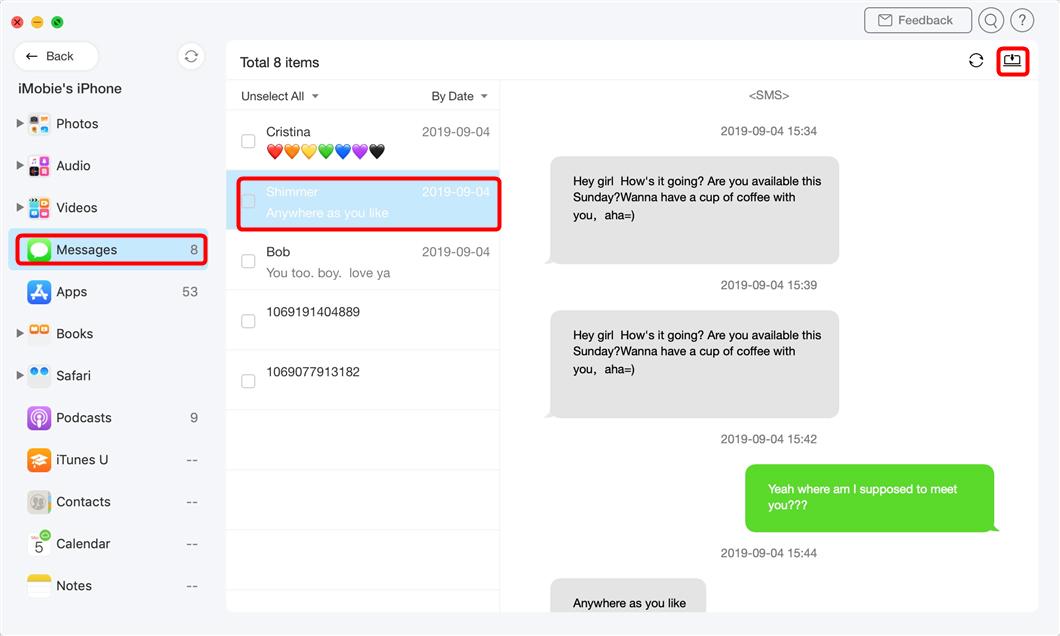 Transférer des messages iPhone vers Mac