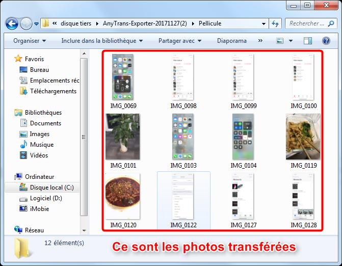 Transférer des photos de l'iPhone à PC via AnyTrans pour iOS