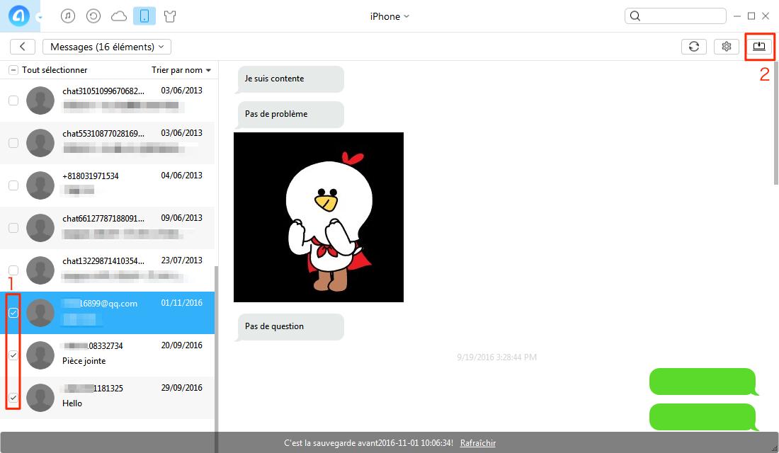 Comment transférer les SMS Phone à PC avec AnyTrans - étape 2