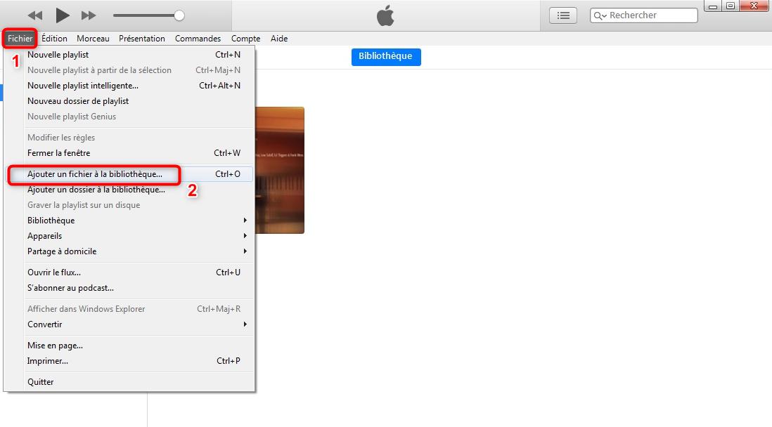 Lancement d'iTunes et recherche des vidéos à transférer - étape 1