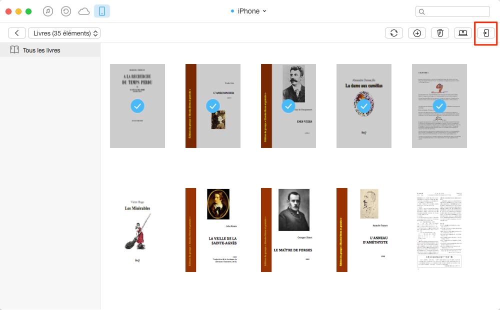 Transférer les livres iPhone vers iPhone 7 – étape 3