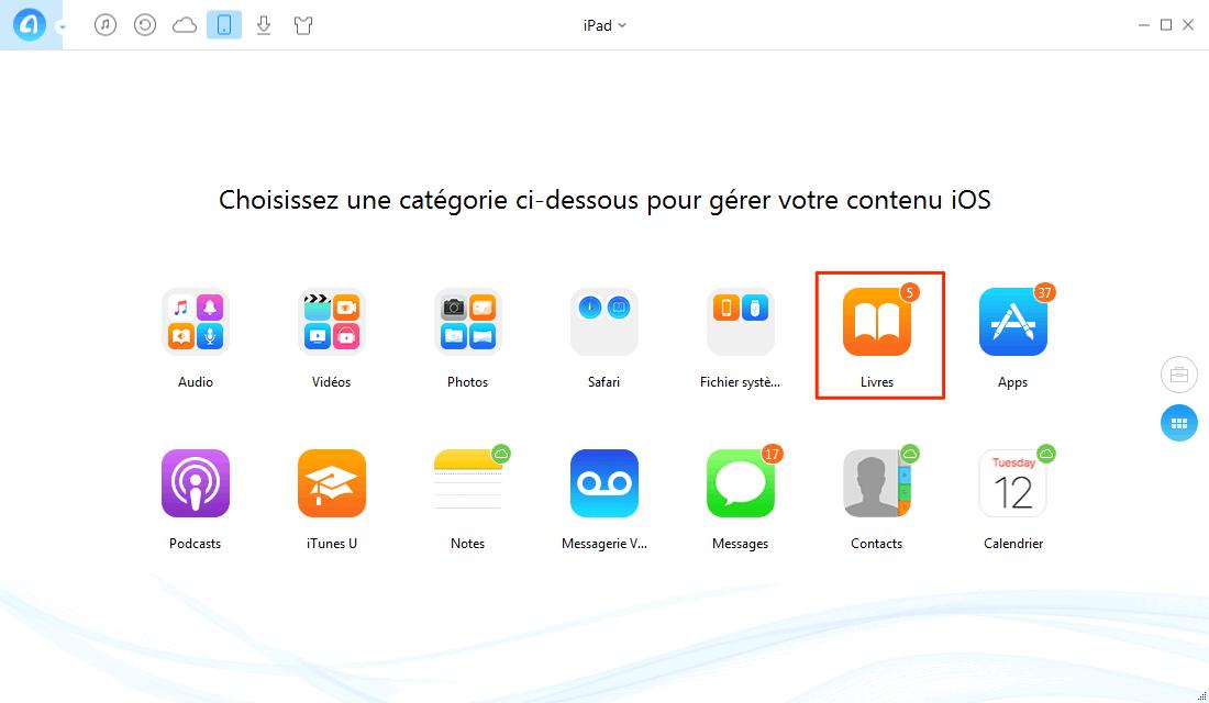 Comment mettre livre ePub sur iPad depuis ordinateur – étape 2
