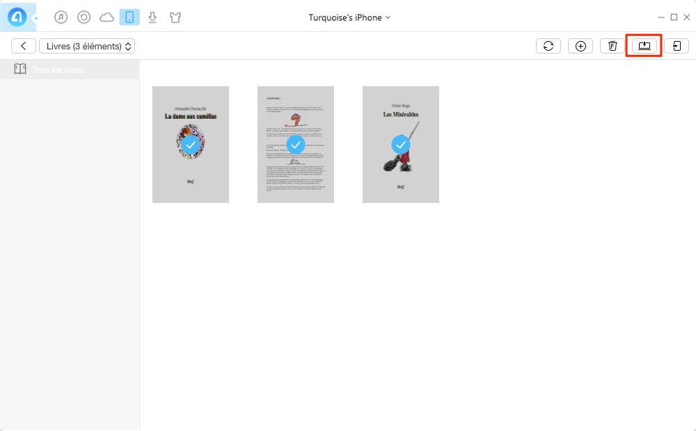 Comment transférer les livres iPhone 7 vers PC – étape 2