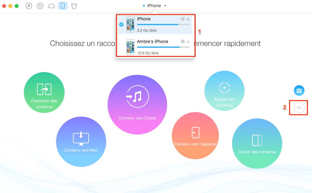 Comment transférer des mémos vocaux de l'iPhone à iPhone - étape 1