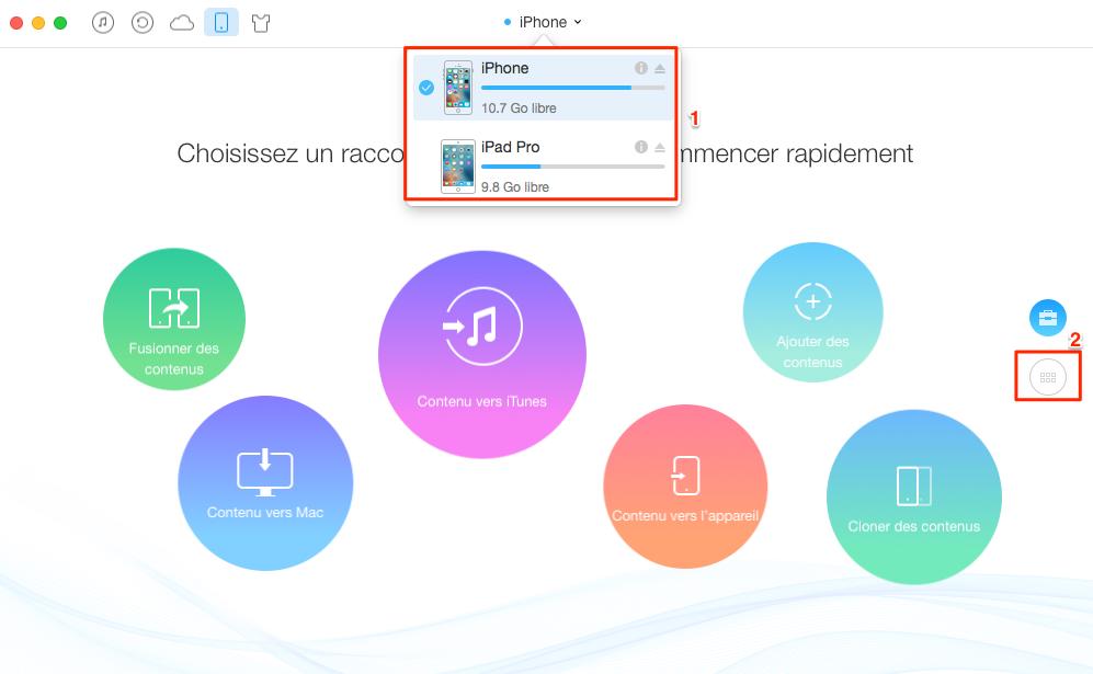 Comment transférer des mémos vocaux de l'iPhone à l'iPad - étape 1
