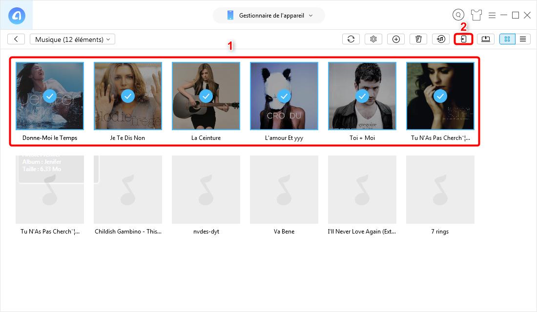 Transférer de la musique d'un ancien iPod à un nouvel iPod - étape 3