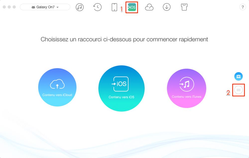 Transférer de la musique Android vers iTunes - étape 1