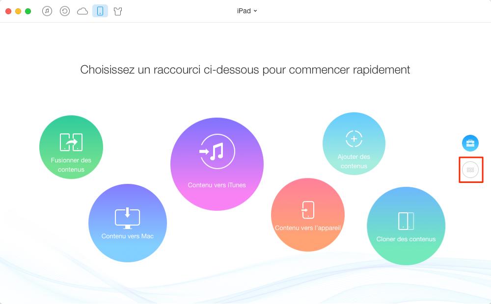 Méthode facile de transférer les musiques iPad – étape 1