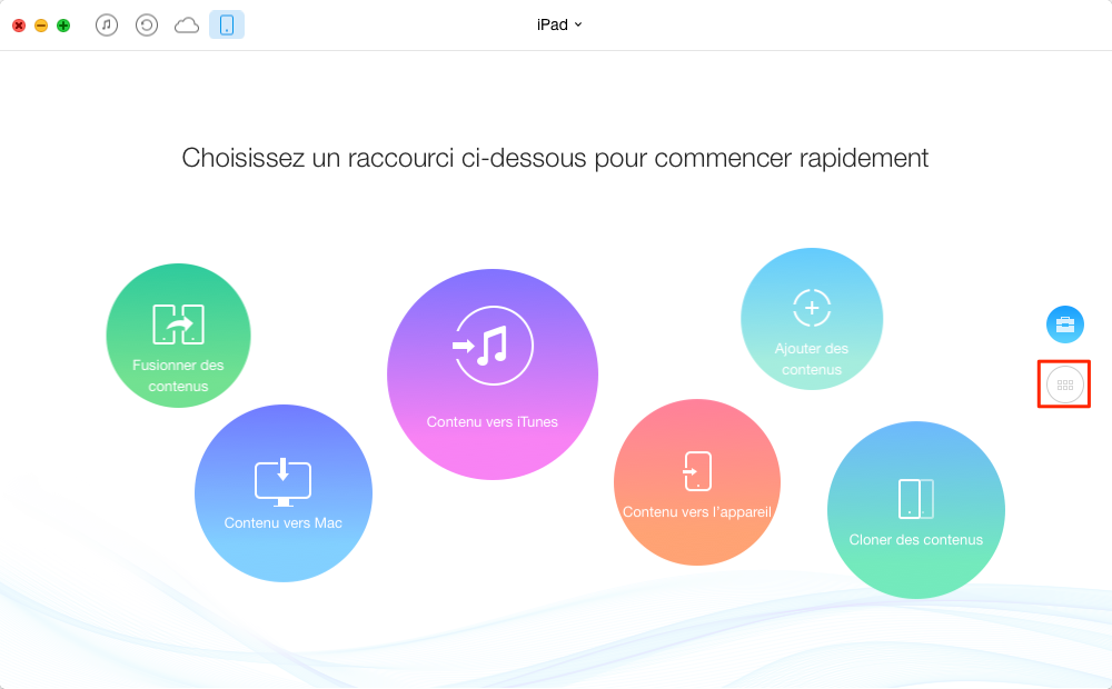 Comment transférer les musiques iPad vers Mac – étape 2