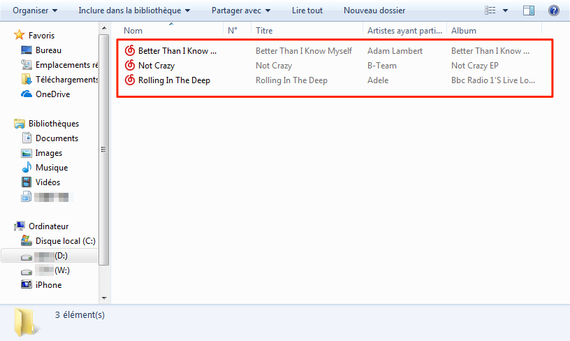 Importer de la musique iPhone 8 vers PC en un clic – étape 3