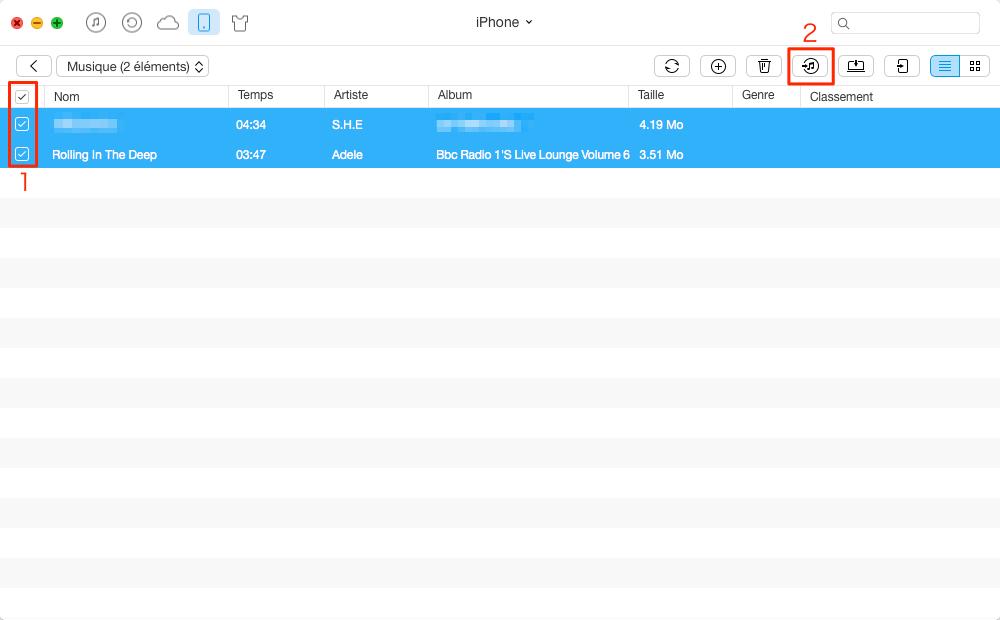 Transférer de la musique iPhone vers iTunes avec AnyTrans - étape 3