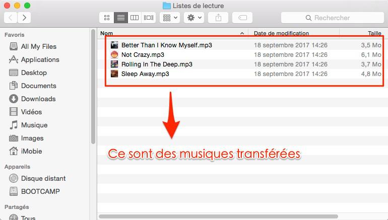 Comment exporter musique iPhone vers Mac – étape 4