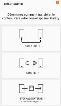 Connexion entre iPhone et Samsung - étape 1