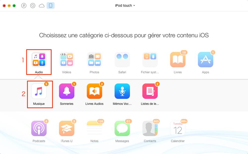Comment transférer de la musique iPod vers iPad– étape 3