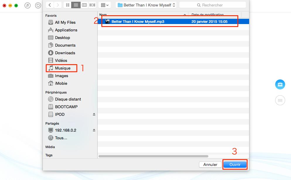 Comment transférer de la musique iPod vers iPod - étape 2