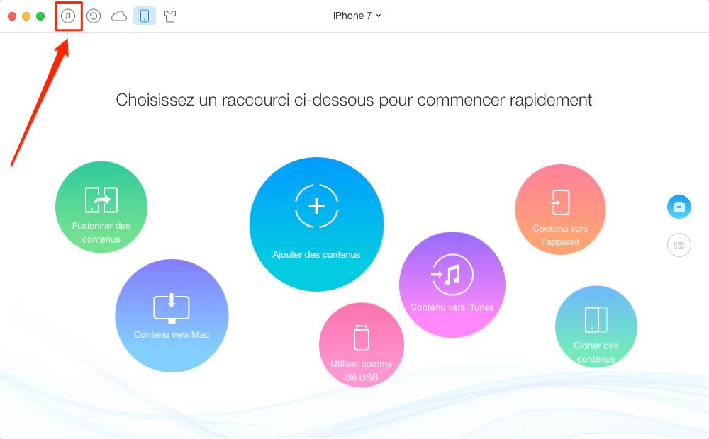 Comment transférer de la musique iTunes vers iPhone – étape 1