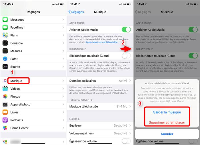 Transférer de la musique Mac vers iPhone avec iCloud - étape 2