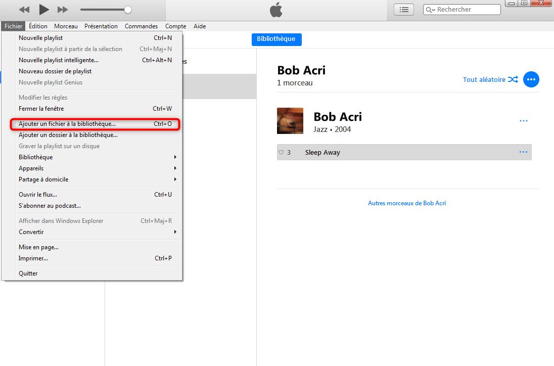 Comment transférer de la musique Mac vers iPhone avec iTunes - étape 1