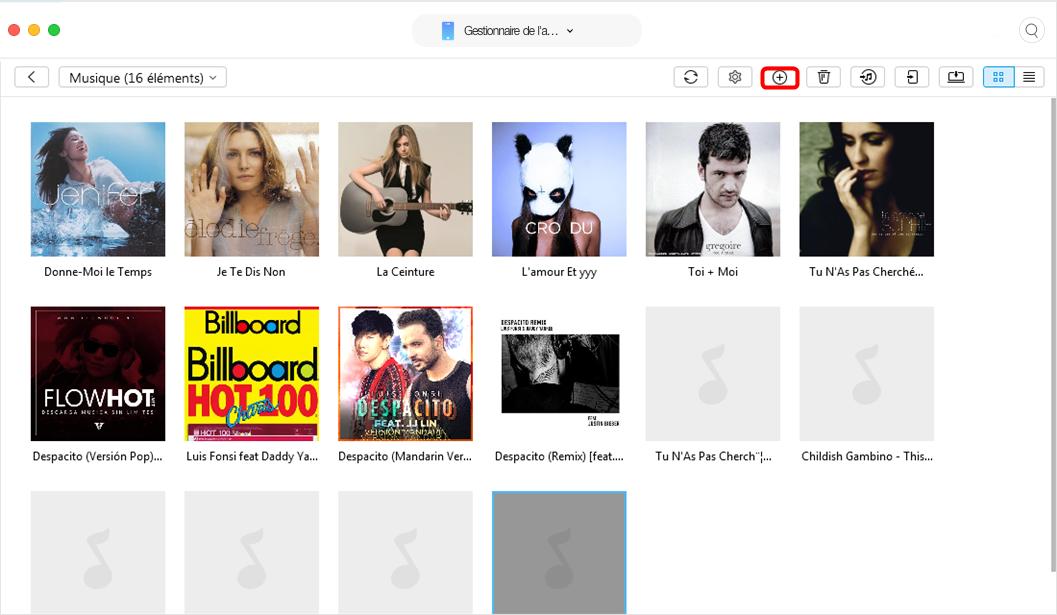 Envoyer de la musique Mac vers iPhone avec Anytrans pour iOS - étape 3